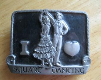 Square Dancing Belt Buckle Western Style Buckles of America