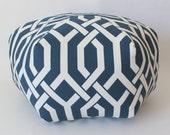 "24"" Ottoman Pouf Floor Pillow P Kaufmann Slick Navy"