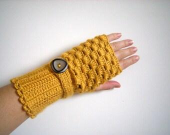 SALE  - Arm Warmers, Fingerless Gloves Women Crochet