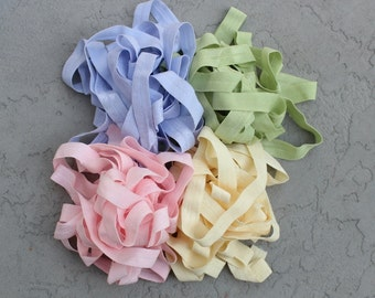 Fold over elastic  4 colors 2 yards of each color 5/8 wide