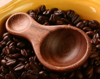 1 tablespoon coffee measuring spoon handmade from salvaged Mesquite wood