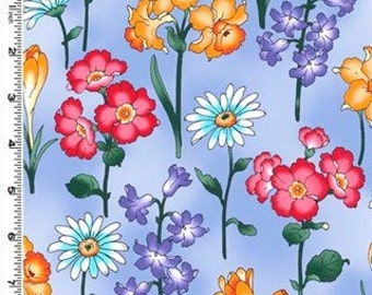 Periwinkle Floral 1 Yard