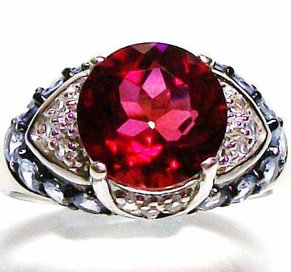"""Feldspar ring,  cocktail ring, red ring,  s9  """"Remembering Johnny"""""""