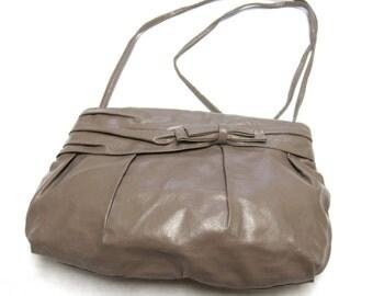 Taupe Brown Purse Shoulderbag Roomy Handbag