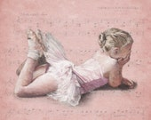 Little ballerina sugar plum fairy signed limited edition giclee ballet print from pastel drawing. Fits IKEA frames