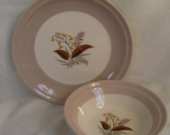 Vogue Cunningham and Pickett Bowl and Plate