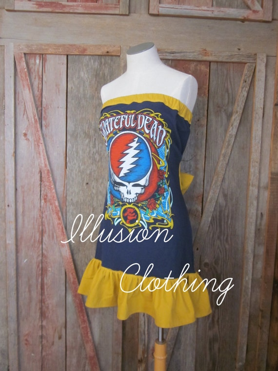 Made-to-Order Grateful Dead Steal Your Roses Dress LIMITED AVAILABILITY
