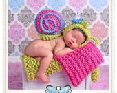 Newborn Baby Chunky Bonnet Snail Prop/ COMPLIMENTARY SHIPPING