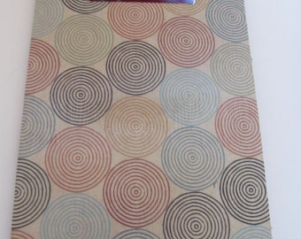 SALE, SALE, SALE!  Small Decorative Clipboard--Lined Circles, Tan Damask