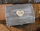 Large Wedding Ring / love Letter Box You Pick Your Colors Romantic Antique Vintage Inspired Shabby Chic  Alternative Ring Pillow