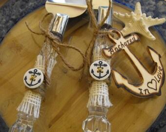 Beach Nautical  Wedding Cake Server And Knife Set