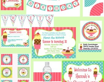 Ice Cream Ultimate Party Package Printable - Sweet Shoppe Collection