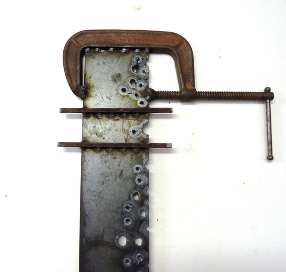 Under Pressure C Clamp Metal Wall Art Industrial Wall Art