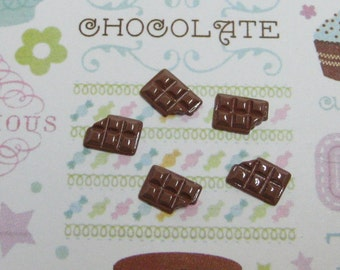 candy bar tiny chocolate bars 10mm x 6mm for kawaii and decoden crafts jewelry supplies flat back cabochons miniature chocolate bar
