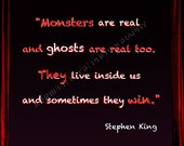 Stephen King Quote Art 4x6 Sized Print Framed Inspirational Famous Author Writer Quotation Fine Art