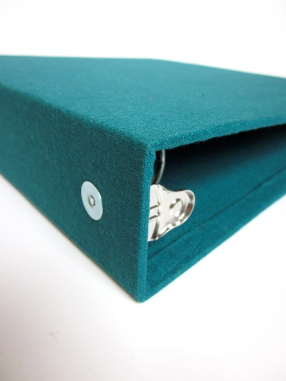 BInder // 1.5 Inch // Linen // Deep Sea // Blue  // Fabric Covered Three Ring Binder