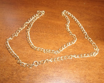 vintage necklace heavy gold chain