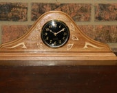 Traditional style mantle clock, solid cherry with ash highlights or maple with walnut highlights