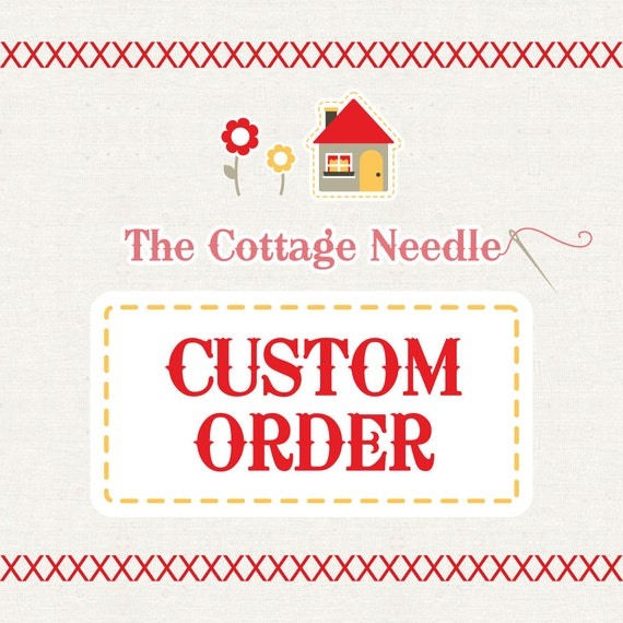 special custom order for Diane : counted cross stitch diy