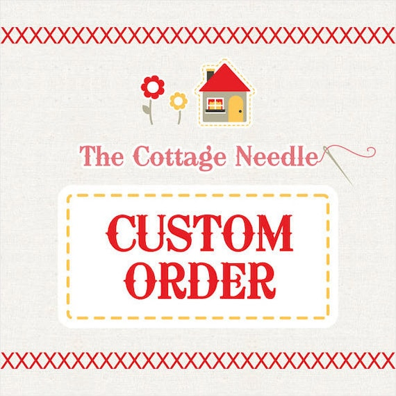 special custom order for pam : counted cross stitch supplies diy