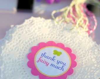 Fairy Garden Party - Printable Thank You Party Tags [Instant Download]