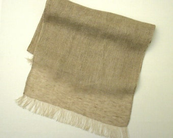 Linen scarf / shawl Natural beige eco friendly