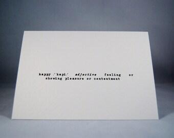 Valentines card definition of happy anniversary wedding