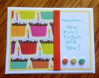 Happy Birthday Handmade Card, 40th, 50th,