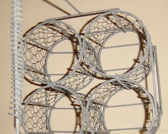 Vintage French Bottle Holder Basket French Glass Carrier