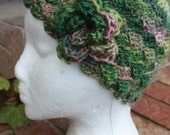 Cloche Hat Scullcap. Womens. Wool