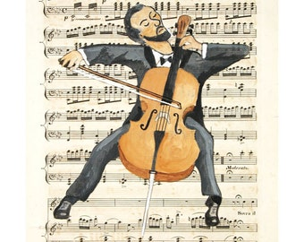 "The Cellist (8x10"")"