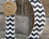 9 inch- Custom chevron letters for home decor - 9 inch