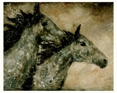Contemporary Horses....8 x 10....Art Couples Agree On Anniversary, Rustic Wedding
