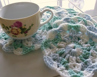 Crochet Coasters - Set of Six