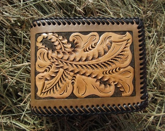 Mens Leather Wallet with Vintage Design