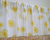 16X65 Yellow and White Dandelion Lined Valance