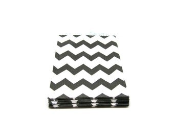 """20 Black and White Chevron Pattern Paper Favor Gift Bags, 2.75"""" x 4"""", Set of 20 Shipping End of July 2016"""
