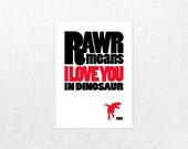 5x7 RAWR Print // Choose Your Dino