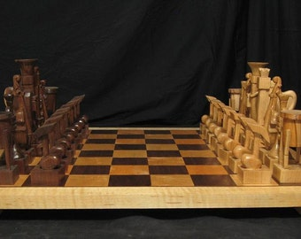 Chess set-Musical Instrument Chess Set by Jim Arnold Chess handmade on Etsy