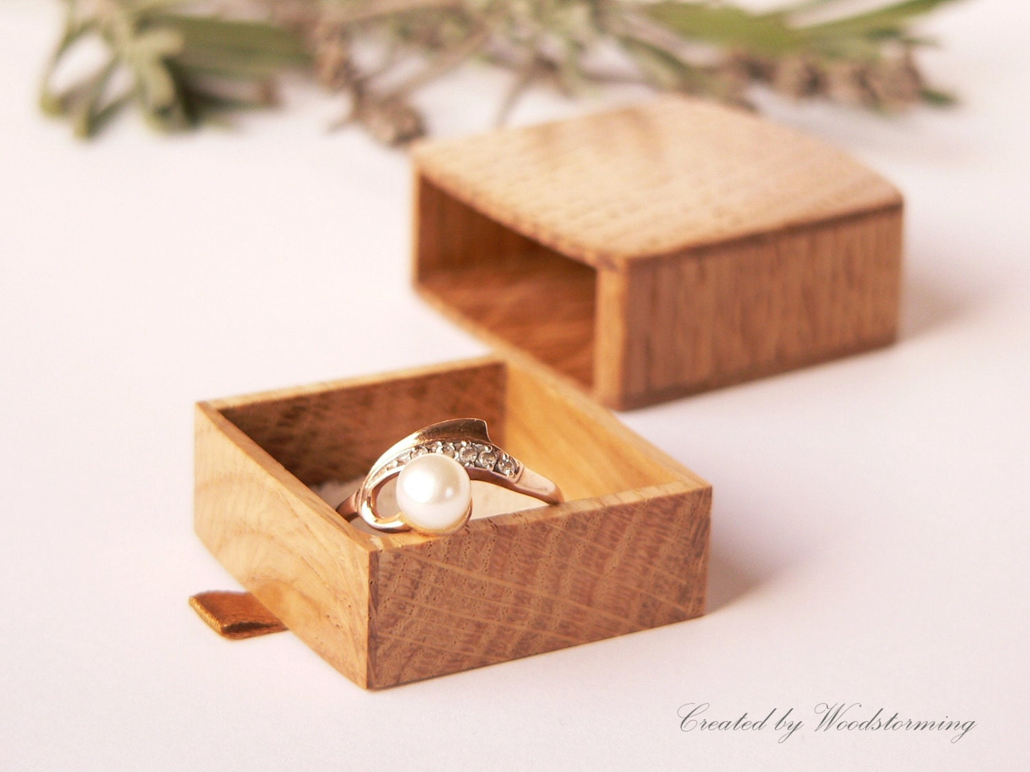 Reserved for laurie engagement ring box slim by woodstorming for Slim engagement ring box