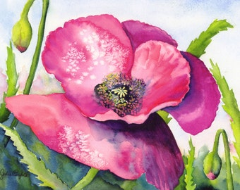 Remembrance Poppy 12 x 16 Giclee print