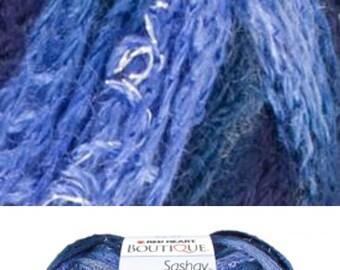 Boutique Sashay Yarn for Spiral ruffle women's scarf, trendy - Rumba