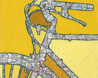 Bike Madison, Wisconsin -vintage bicycle art