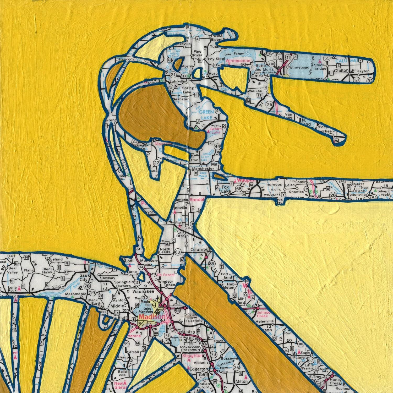 Bike Madison Wisconsin vintage bicycle art