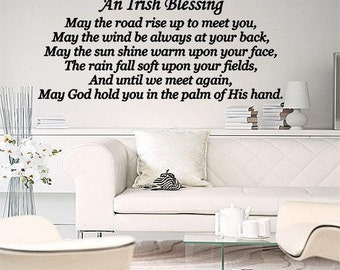 An Irish Blessing May The Road Rise Up To Meet You Wall Lettering Vinyl Wall Decal