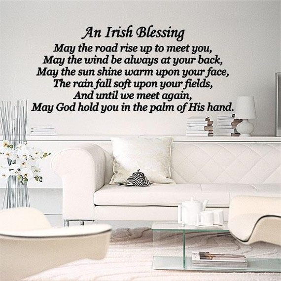 An Irish Blessing May The Road Rise Up To Meet You Wall