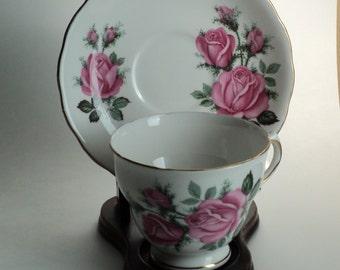 VintageTea Cup Royal Vale Pink Rose Teacup