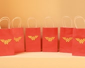 Wonder Woman and SuperMan gift bags
