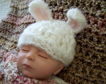 Baby Bunny Hat Pattern Only (Newborn to 4 months)