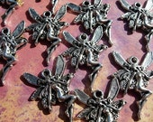10 Tiny FAIRY Charms - D.I.Y. Jewelry Making Flying Fae Fairies